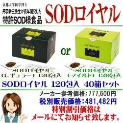SODロイヤル 120包入 40箱セット 大特価販売中!