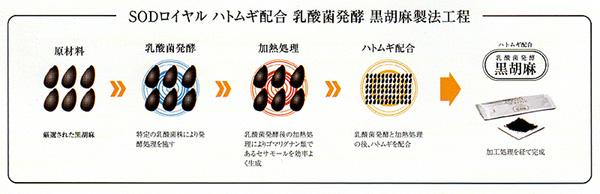 SODロイヤル ハトムギ配合 乳酸菌発酵 黒ゴマ 60包入