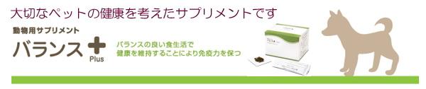 バランス plus は、ペット用抗酸化食品 ペット用サプリメントです